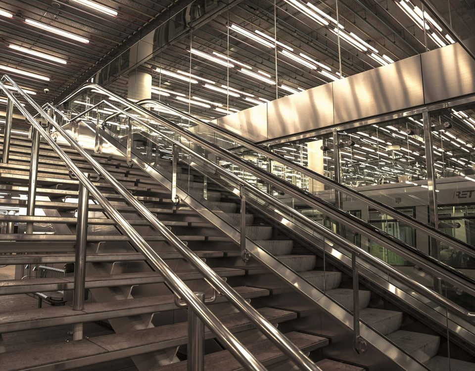 Installation of stainless steel ladders and platforms