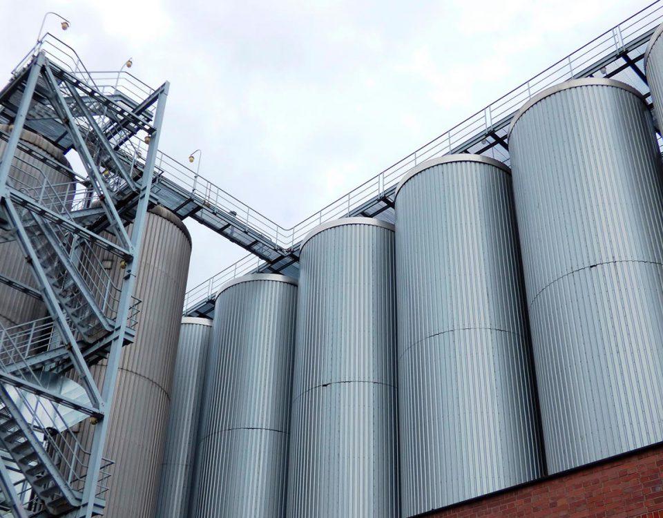 Силос для сыпучих продуктов из нержавеющей стали