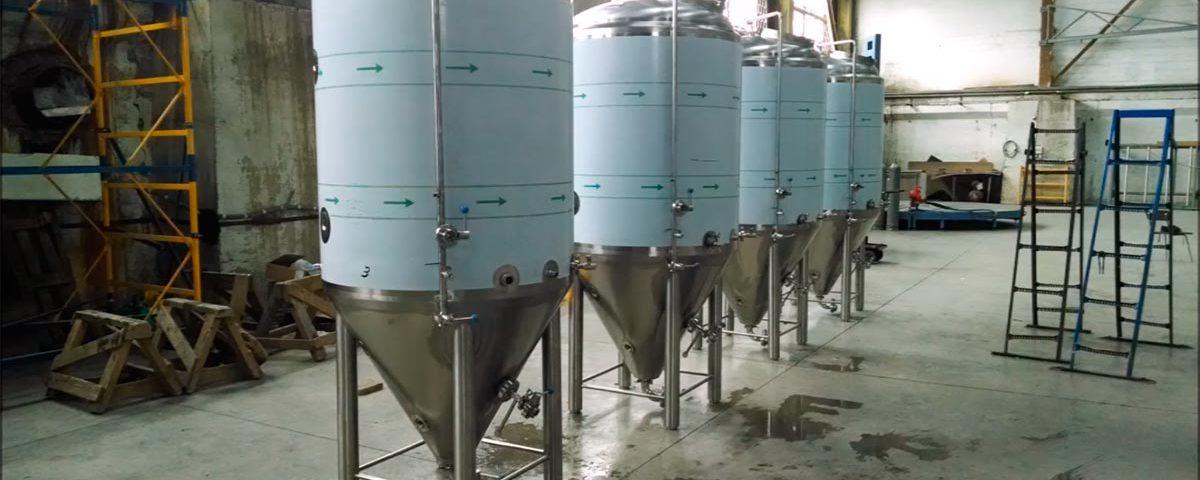 Цилиндро-конические танки для пива